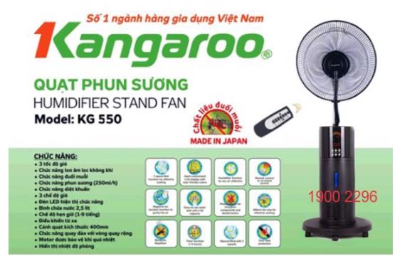 Quạt Phun Sương Kangaroo thương hiệu hàng đầu Việt Nam